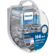 PHILIPS H4 / W5W WhiteVision ultra 12V 60/55W P43t-38 PHILIPS 12342WVUSM 8727900354904