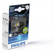 PH-128584000KX1 PHILIPS C5W 12V 1W SV8,5 Festoon X-tremeVision LED T10,5x38 4 000 K 8727900703412