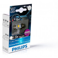 PH-128596000KX1 PHILIPS C5W 12V 1W SV8,5 Festoon X-tremeVision LED T10,5x38 6 000 K 8727900703399
