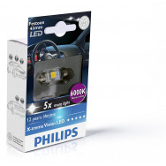 PH-129466000KX1 PHILIPS C5W 12V 1W SV8,5 Festoon X-tremeVision LED T10,5x43 6 000 K 8727900383416