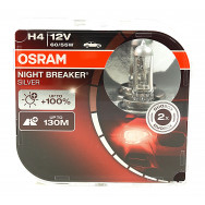 OSRAM H4 NIGHT BREAKER SILVER +100% 12V 60/55W P43T