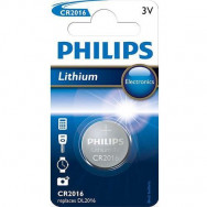 PHILIPS CR2016 - 3.0V coin 1-blister (20.0 x 1.6) - Lithium
