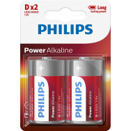 PHILIPS BATERIE LR20 / D POWER ALKALINE B2