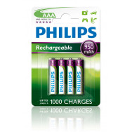 PHILIPS R03 / AAA   MULTILIFE 950 mAh B4   Rechargeable
