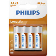 PHILIPS BATERIE R6LL / AA LONGLIFE B4