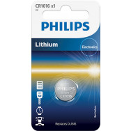 PHILIPS CR1616 - 3.0V coin 1-blister (16.0 x 1.6) - Lithium   Minicells