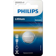 PHILIPS CR2025 - 3.0V coin 1-blister (20.0 x 2.5) - Lithium