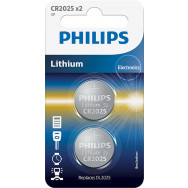 PHILIPS CR2025P2 - 3.0V coin 2-blister (20.0 x 2.5) - Lithium   Minicells