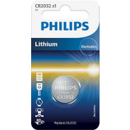 PHILIPS CR2032 - 3.0V coin 1-blister (20.0 x 3.2) - Lithium   Minicells