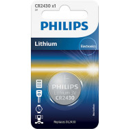 PHILIPS CR2430 - 3.0V coin 1-blister (24.5 x 3.0) - Lithium   Minicells