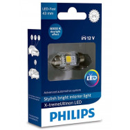 PHILIPS Festoon 12V 1W SV8,5 10.5x43 LED 12946 6000K 1W X1 PHILIPS 12946I60X1 8727900398021