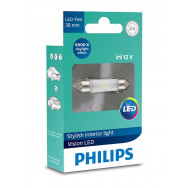 PHILIPS Festoon 12V 1W SV8,5 38mm LED 12801 6000K X1 PHILIPS 12801I60X1 8727900397987