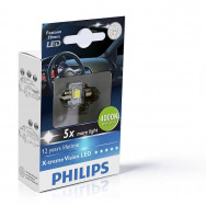 PHILIPS Festoon 12V 1W SV8,5 X-tremeVision LED T14x30 4000K PHILIPS 129404000KX1 8727900397147