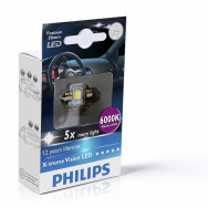 PHILIPS Festoon 12V 1W SV8,5 X-tremeVision LED T14x30 6000K PHILIPS 129416000KX1 8727900397161