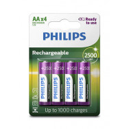 PHILIPS HR6/AA MULTILIFE 2400 MAH B4 READY-TO-USE   RECHARGEABLE