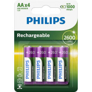 PHILIPS R6 / AA MULTILIFE 2600 mAh B4   Rechargeable