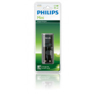PHILIPS SCB1210 - MINI Charger 1/2 x AA/AAA, 170/80 mA, 220/240V, no batteries incl.   Wall charger