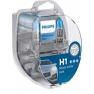 PHILIPS H1 + W5W WHITEVISION ULTRA 12V 55W P14,5S