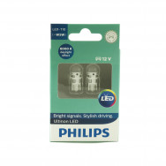PHILIPS T10 LED WHITE 11961 ULW 12V X2 12V 0,6W W2,1X9,5D