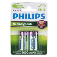 PHILIPS HR03/AAA MULTILIFE 900 MAH B4 READY-TO-USE   RECHARGEABLE