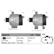 Alternator denso dan1125