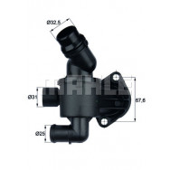 TERMOSTAT MAHLE TI3487 AUDI A4 A5 A6 2,0TDI 04-/SEAT EXEO 08-/VW CRAFTER 11-