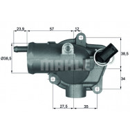 TERMOSTAT MAHLE TH1187 MERCEDES SPRINTER CDI 00-06 VITO 98-03