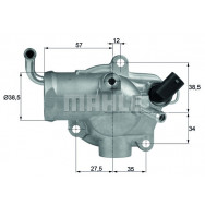 TERMOSTAT MAHLE TH1287 MERCEDES ML W163 2,7CDI 99-05
