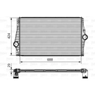 Valeo intercooler 818280