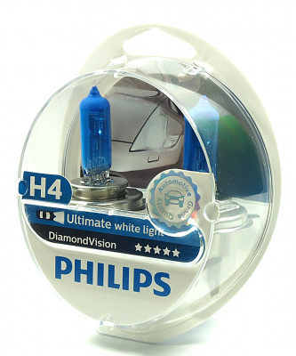 PHILIPS H4 12V 60/55W P43t-38 Diamond Vision PH-12342DVS2 8711500695734
