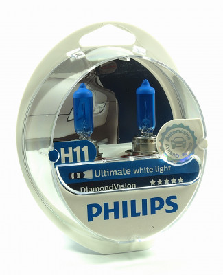 PHILIPS H11 12V 55W PGJ19-2 Diamond Vision PH-12362DVS2 8727900360455