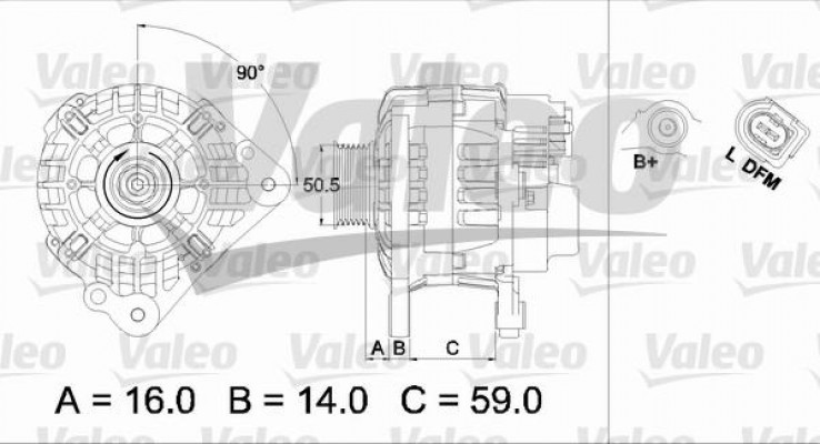 Valeo 437444 Valeo alternator - z kaucją 437444